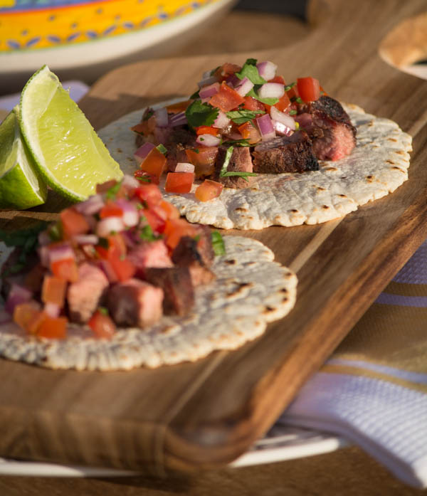 Grilled Tri-tip tacos on homemade tortillas II