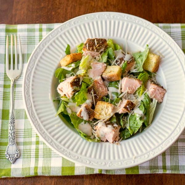 salmon caesar salad civ