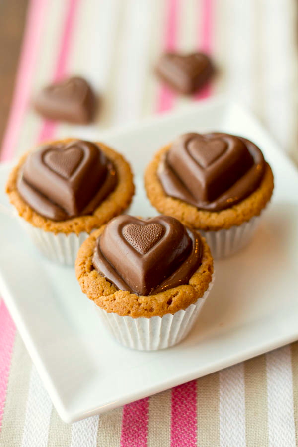 Nutella and Peanut Butter Cookie Cups v