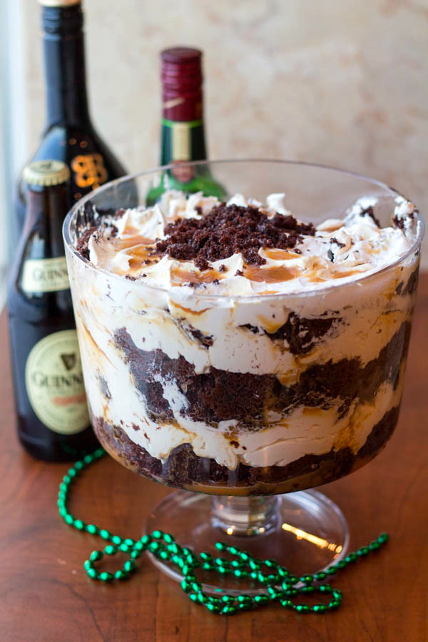 Boozy Irish Car Bomb Trifle | Two in the Kitchen v