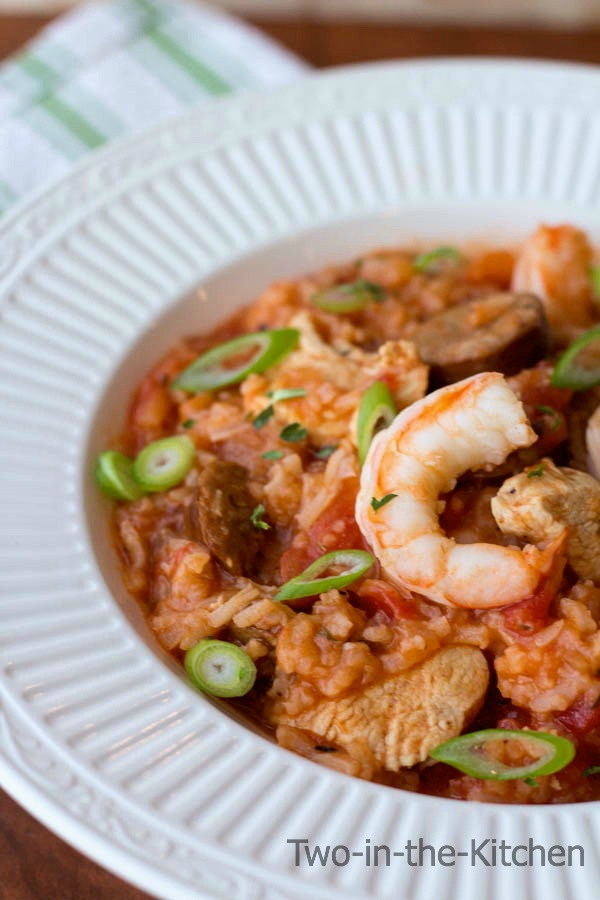 Mardi Gras Jambalaya with Jalepeno Cheddar Cormbread  Two in the Kitchen vii