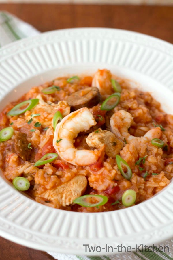 Mardi Gras Jambalaya with Jalepeno Cheddar Cormbread  Two in the Kitchen viii