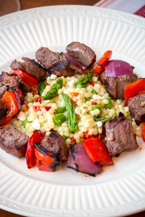 Steak and Pepper Skewers with Cous Cous vii