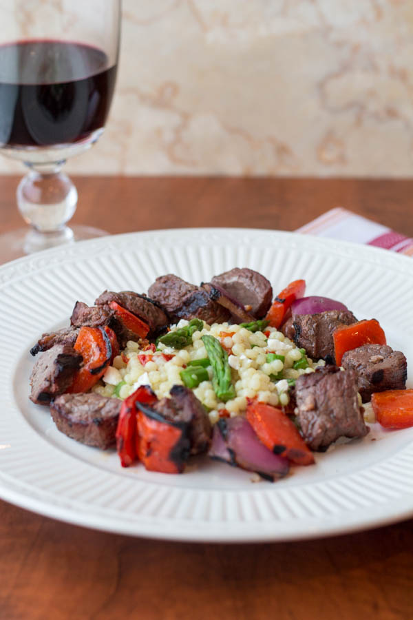 Steak and Pepper Skewers with Cous Cous viii