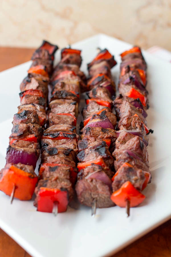 Steak and Pepper Skewers with Cous Cous vs