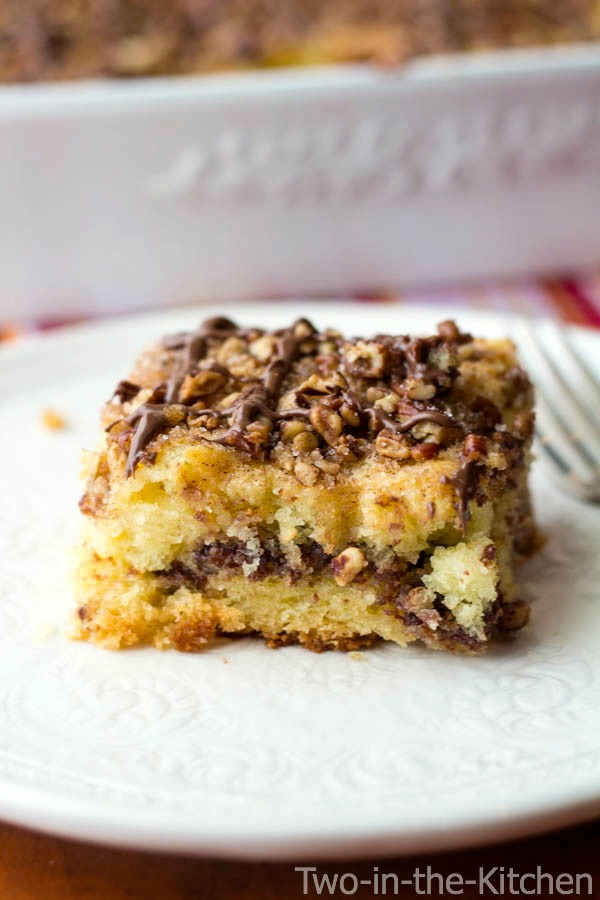 Nutella Cinnamon Struesel Coffee Cake  Two in the Kitchen vv