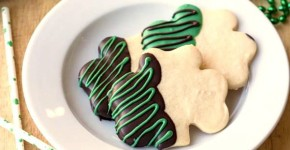 Shamrock Shortbread Cut-Out Cookies Two in the Kitchen civ