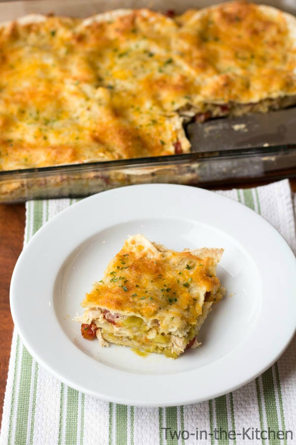 Chicken Enchilada Verde Bake Two in the Kitchen v
