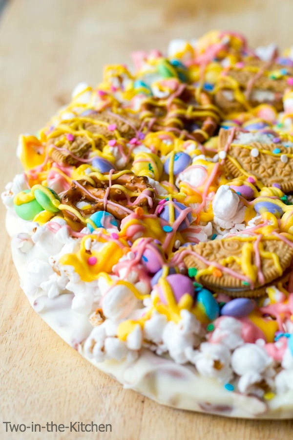 Easter Candy Pizza Two in the Kitchen viv