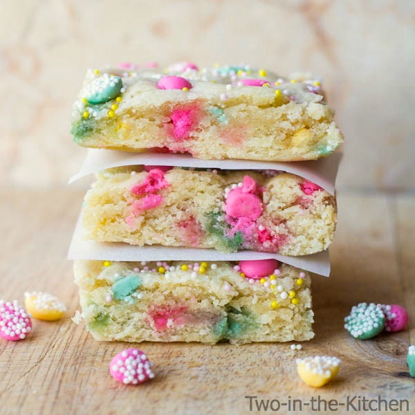 Mother's Day Melty Mint Sugar Cookie Bars  Two in the Kitchen c