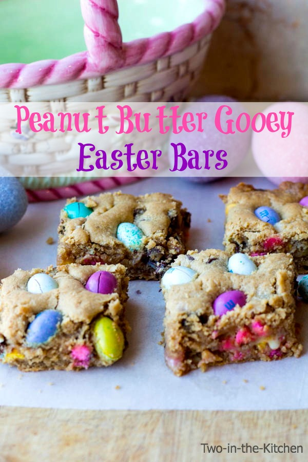 Peanut Butter Gooey Easter Bars Two in the Kitchen v