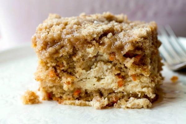 carrot cream cheese coffee cake  Two in the Kitchen vii