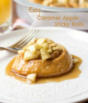 Caramel Apple Sticky Rolls Two in the Kitchen v