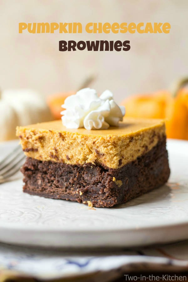 Pumpkin Cheesecake Brownies Two in the Kitchen vii