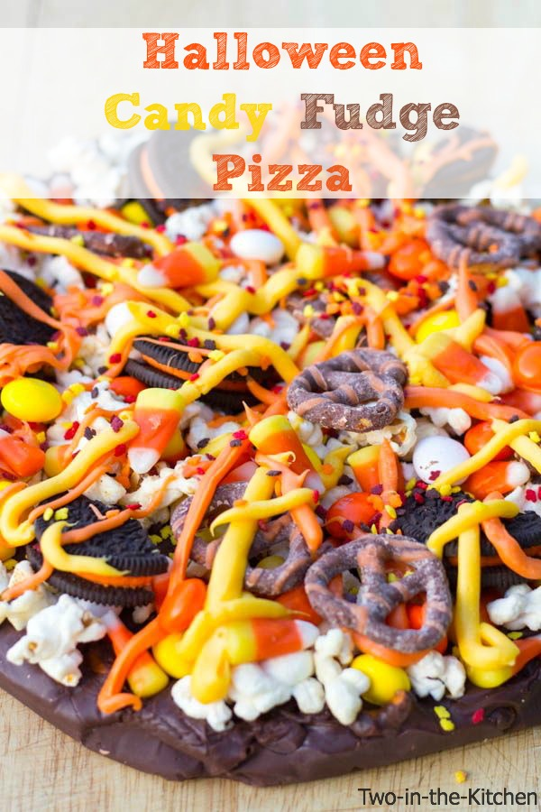 Halloween Candy Fudge Pizza  Two in the Kitchen viv