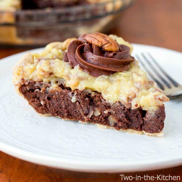 German Chocolate Fudge Pie  Two in the Kitchen cii