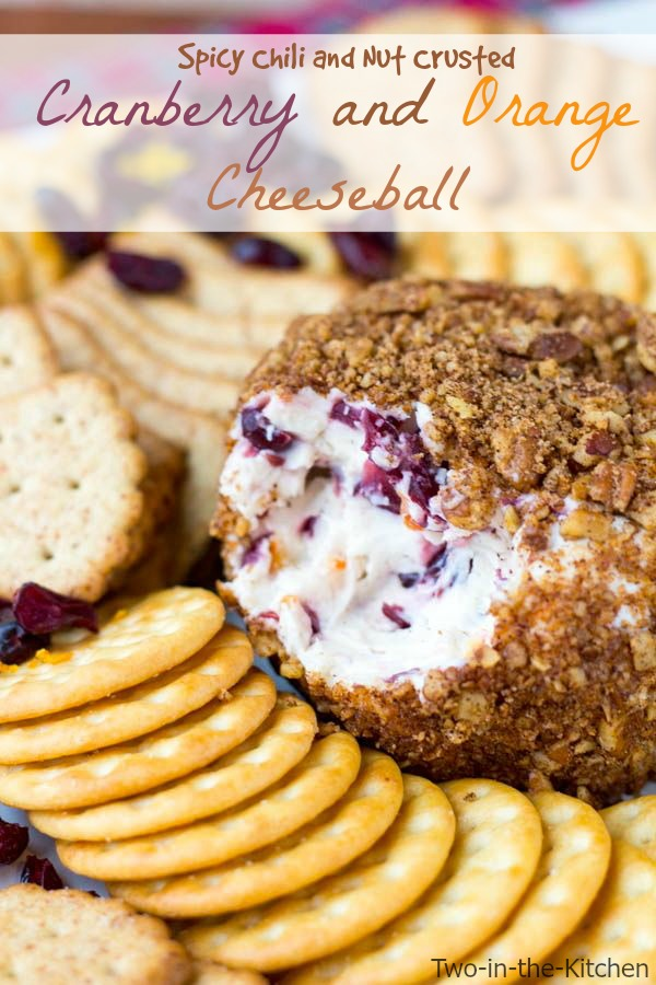 Spicy Chili and Nut Crusted Cranberry and Orange Cheeseball  Two in the Kitchen vi