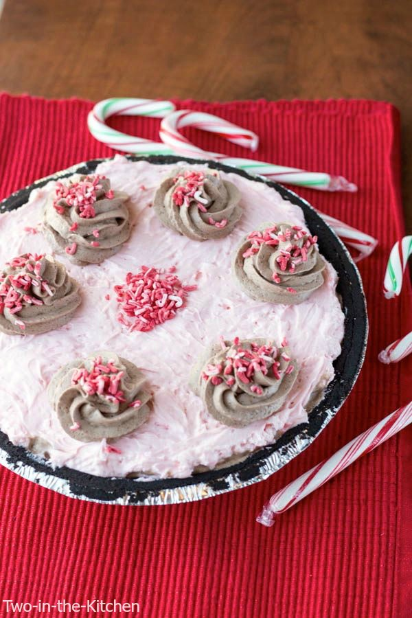 Candy Cane French Silk Pie  Two in the Kitchen viv