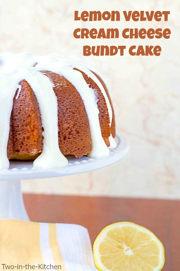 Lemon Velvet Cream Cheese Bundt Cake  Two in the Kitchen viv
