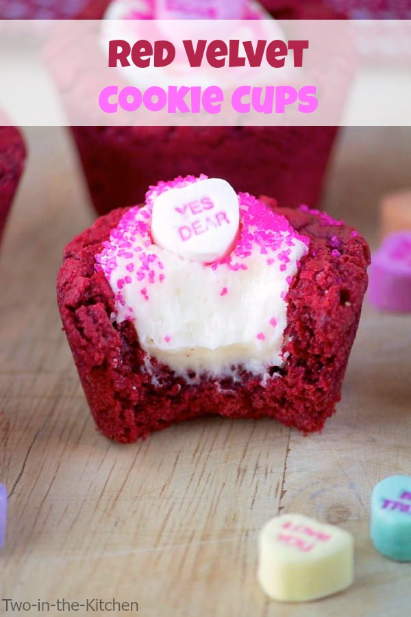 Red Velvet Cookie Cups Two in the Kitchen vi