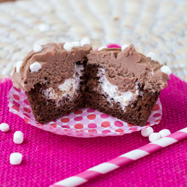 hot chocolate cupcakes | Two in the kitchen ci