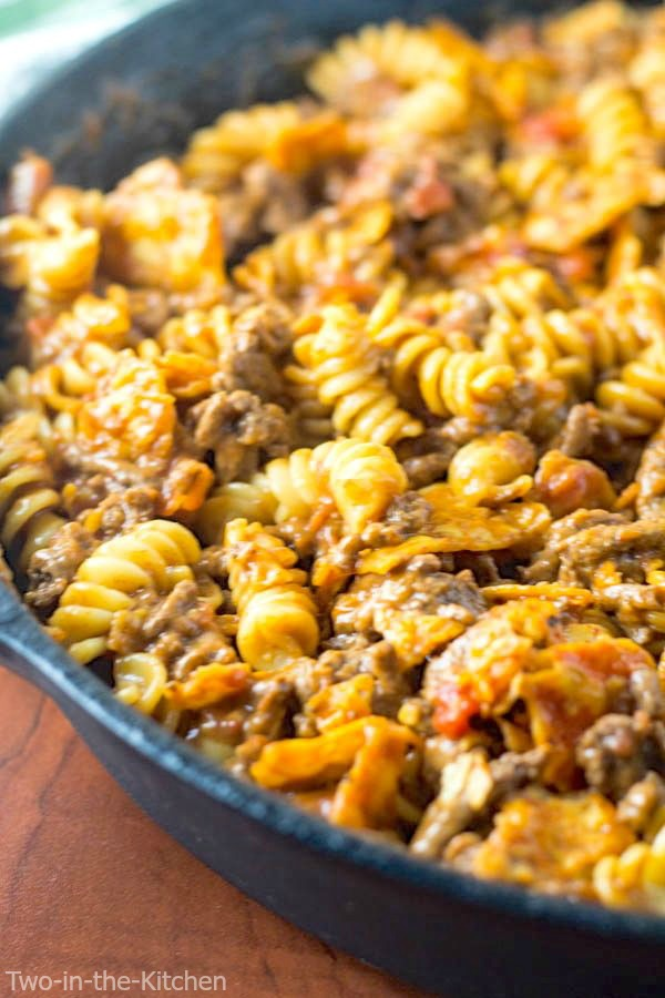 Cheesy Taco Pasta Skillet  Two in the Kitchen vi