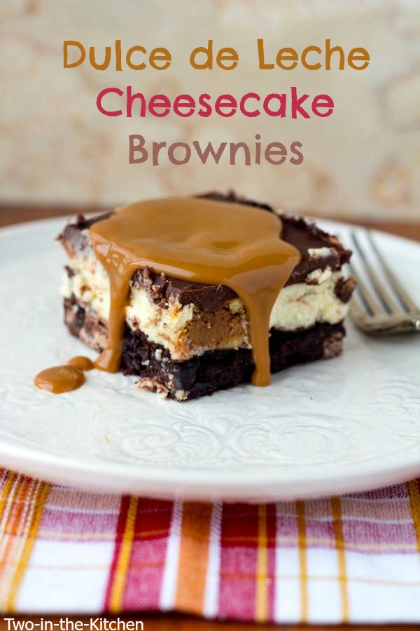 Dulce de Leche Cheesecake Brownies  Two in the Kitchen v