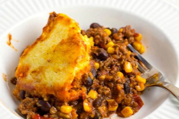Crock Pot Beef Tamale Pie