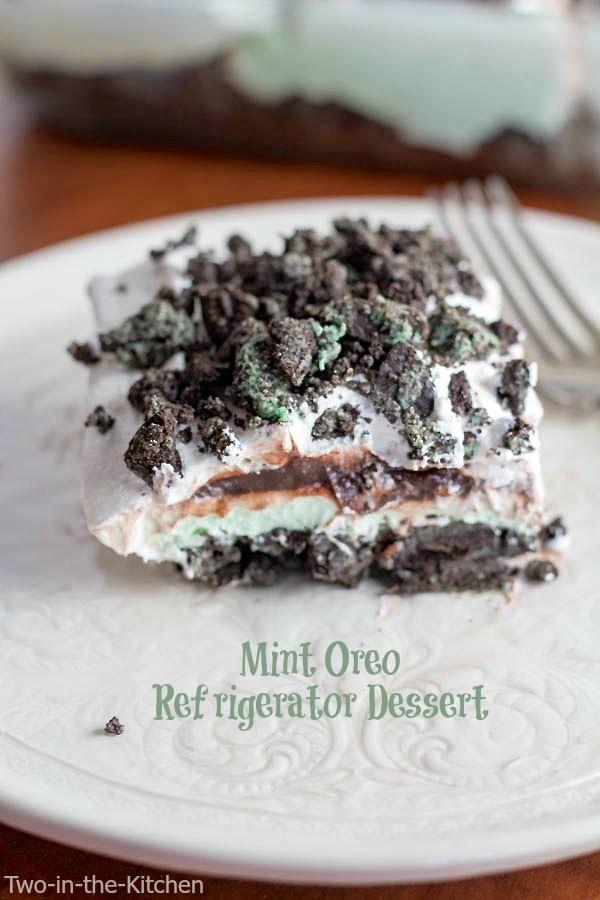 Mint Oreo Refrigerator Dessert  Two in the Kitchen viii