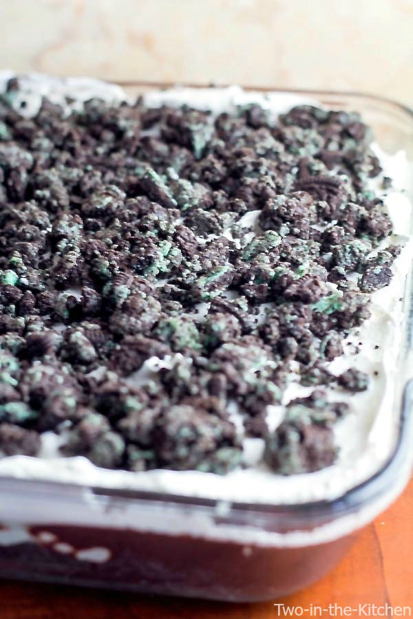Mint Oreo Refrigerator Dessert  Two in the Kitchen vv