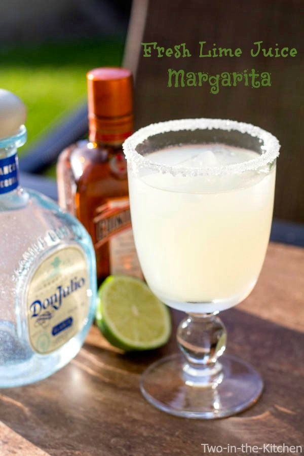 Fresh Lime Juice Margarita  Two in the Kitchen v