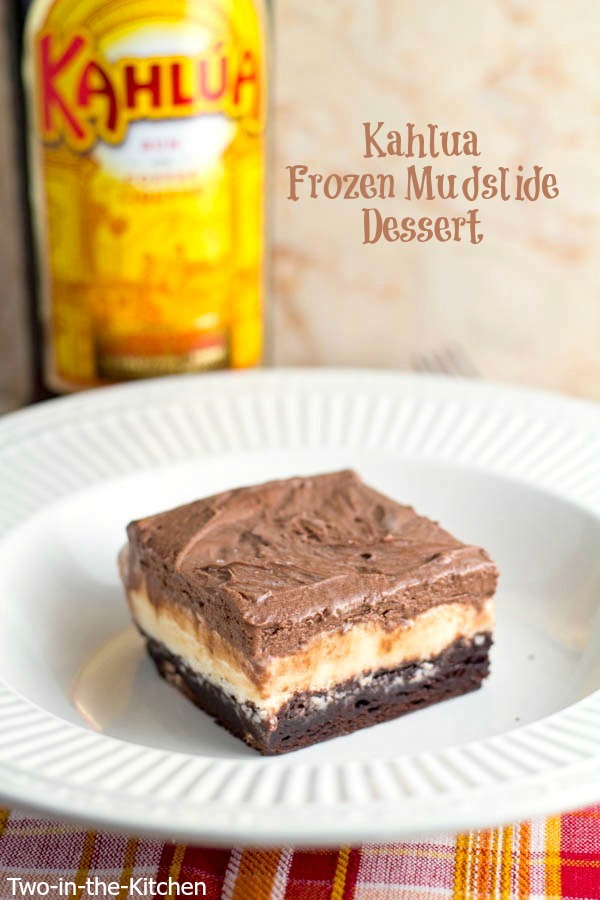 Frozen Kahlua Mudslide Dessert Two in the Kitchen viv