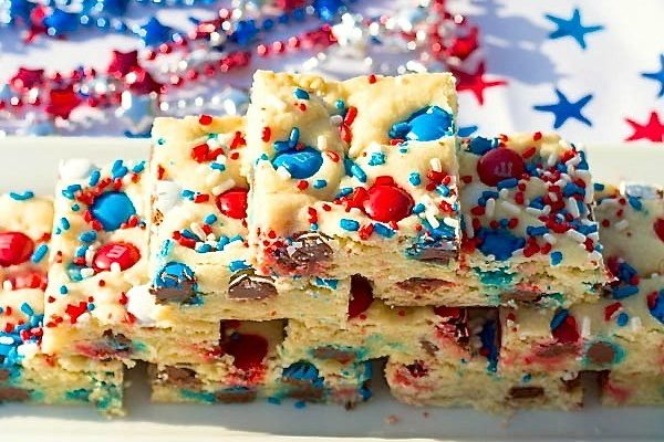 Patriotic Sugar Cookie Bars  Two in the Kitchen v