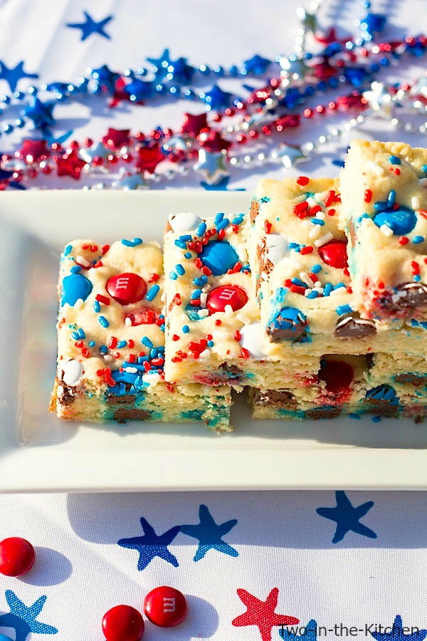 Patriotic Sugar Cookie Bars  Two in the Kitchen vi