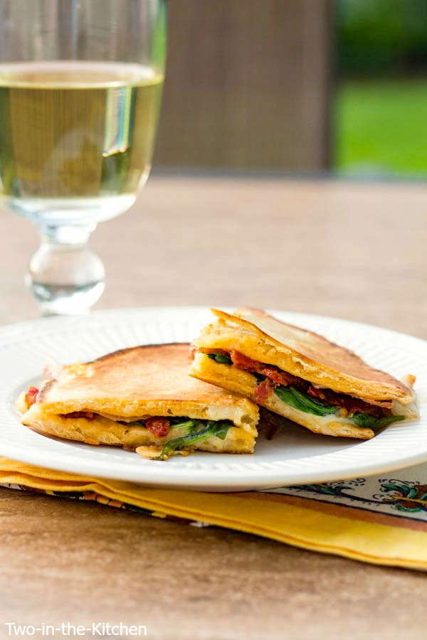 Prosciutto, and Sun-Dried Tomato Pressed Pita Sandwiches  Two in the Kitchen viii