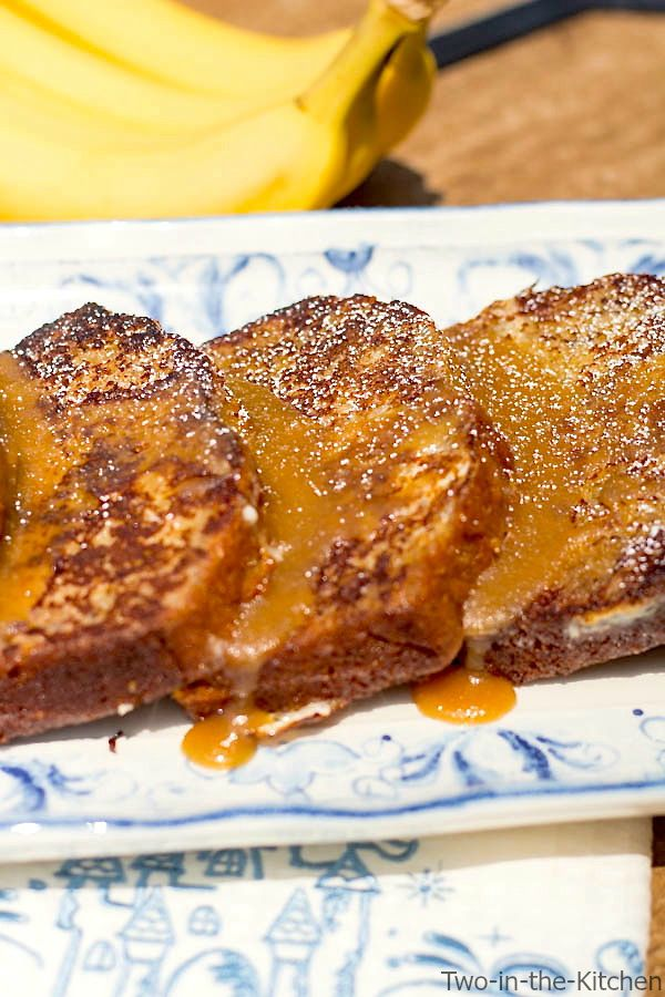 Banana Bread French Toast with Caramel Glaze  Two in the Kitchen vi