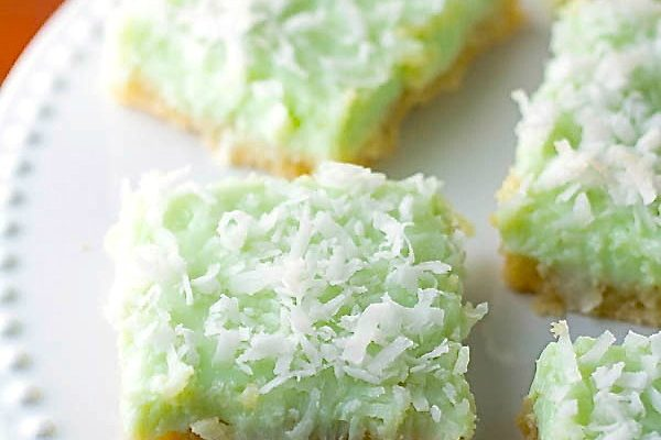 Coconut Key Lime Cookie Bars | Two in the Kitchen v