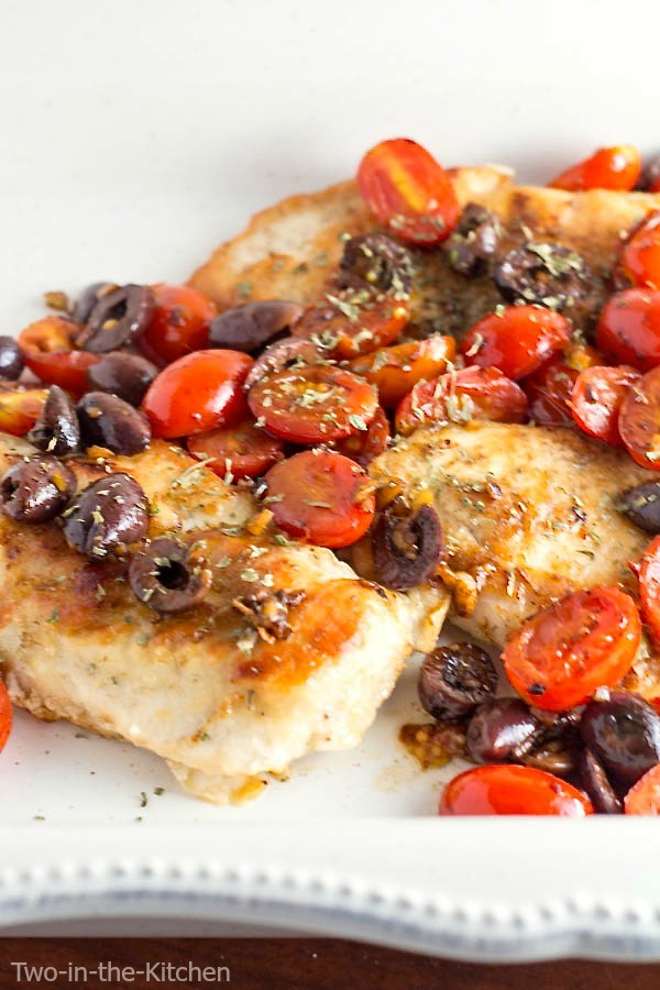 Sauteed Chicken Breasts with Tomatoes and Olives Two in the Kitchen v