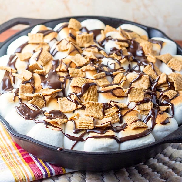 Skillet S'Mores Brownie | Two in the Kitchen c