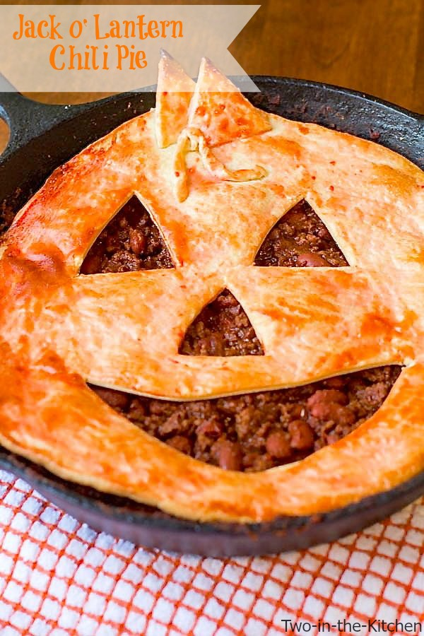 Jack O' Lantern Chili Pie  Two in the Kitchen vii