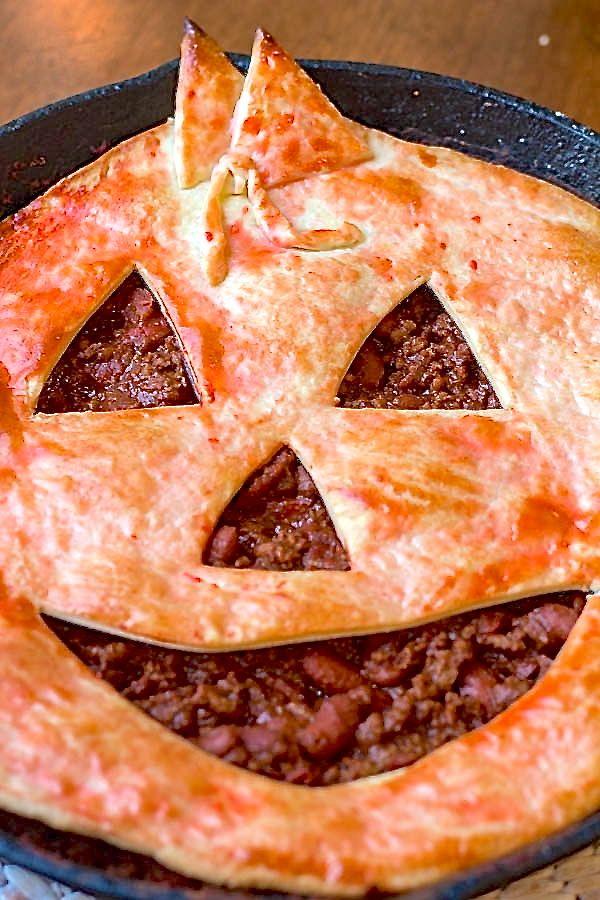 Jack O' Lantern Chili Pie | Two in the Kitchen viii