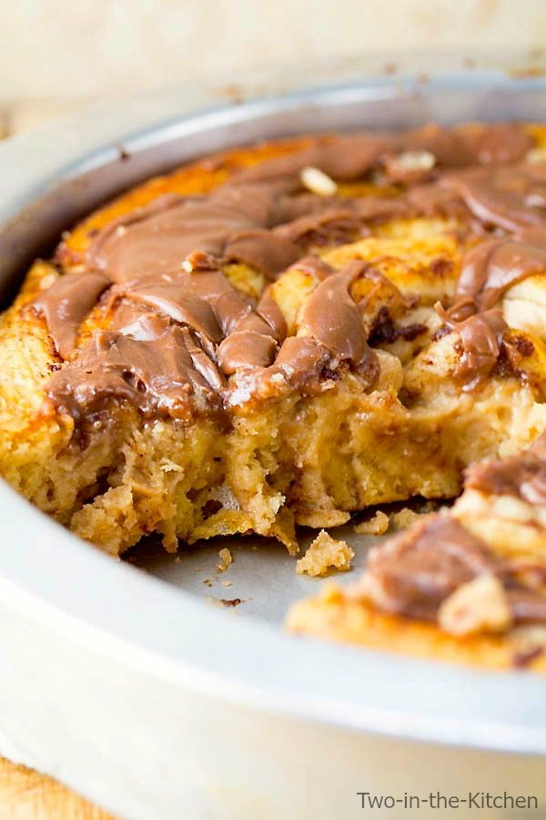 Giant Peanut Butter Cinnamon Roll with Nutella Icing Two in the Kitchen vi