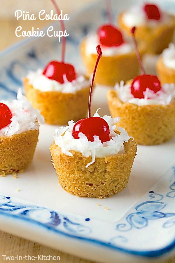 Pina Colada Cookie Cups Two in the Kitchen vii