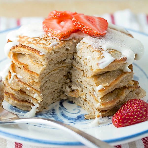 These Cinnamon Toast Pancakes are perfect for a weekend brunch